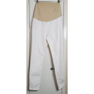 Isabel Maternity White Skinny Pants Power Stretch
